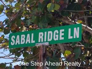 The Preserve at Coconut Pointe, Melbourne Beach -Sabal Ridge Lane Sign