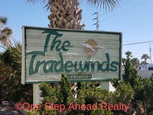 The Tradewinds Melbourne Beach Beachside Townhomes Sign