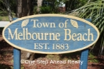 Town of Melbourne Beach sign